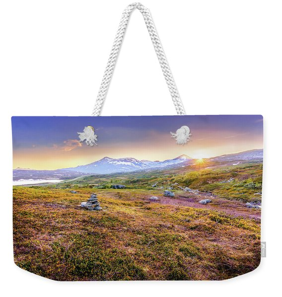 Weekender Tote Bag featuring the photograph Sunset In Tundra by Dmytro Korol
