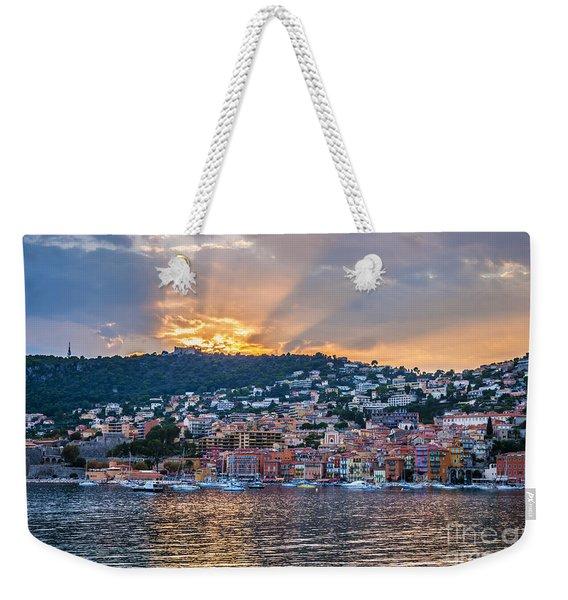 Sunset In Villefranche-sur-mer Weekender Tote Bag