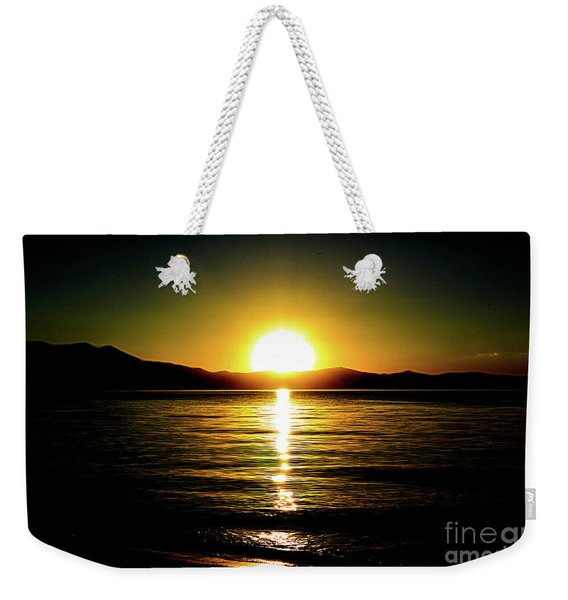 Sunset Lake 2 Weekender Tote Bag