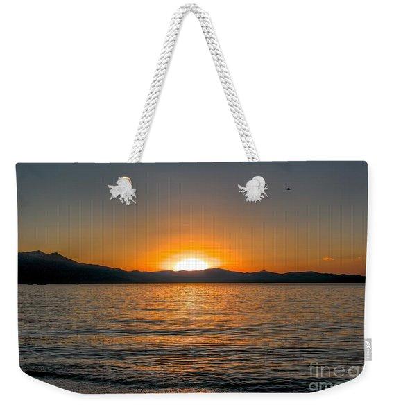 Sunset Lake 3 Weekender Tote Bag