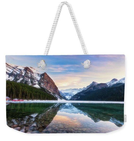 Sunset Lake Louise Weekender Tote Bag