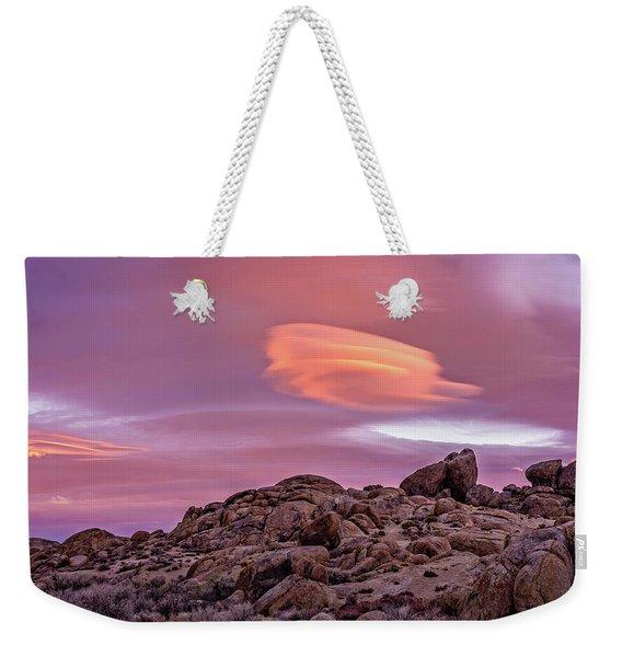 Sunset Lenticular Weekender Tote Bag