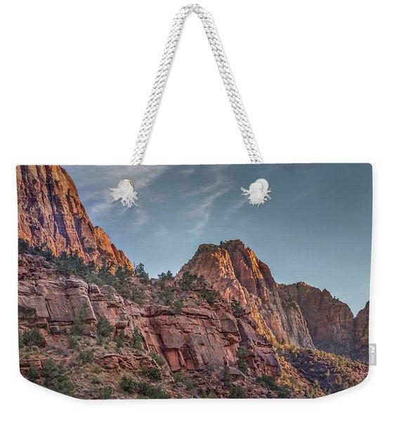 Sunset Lighting At Zion Weekender Tote Bag