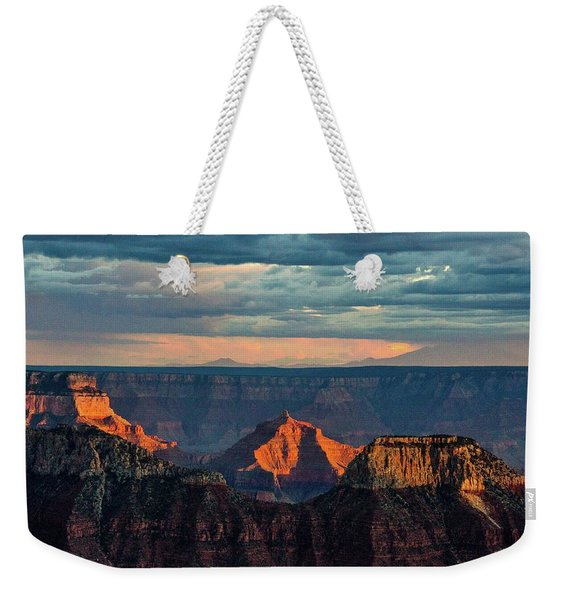Sunset Lights Angels Gate Weekender Tote Bag