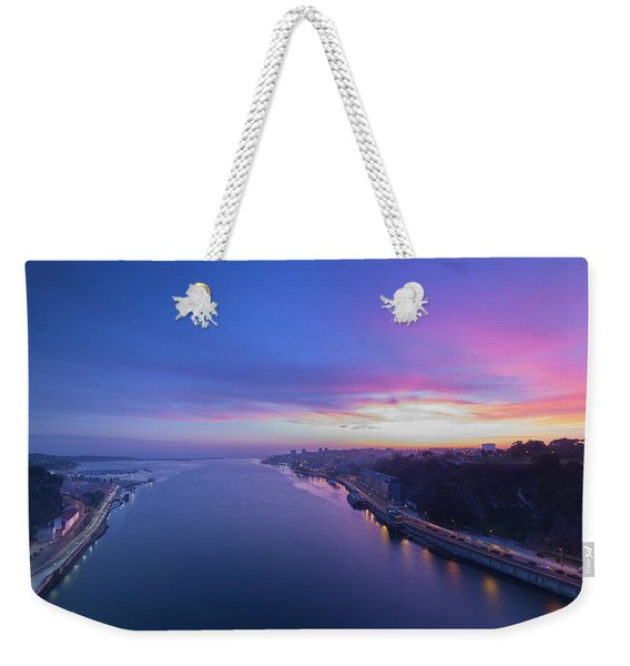 Sunset Looking From A Bridge Weekender Tote Bag