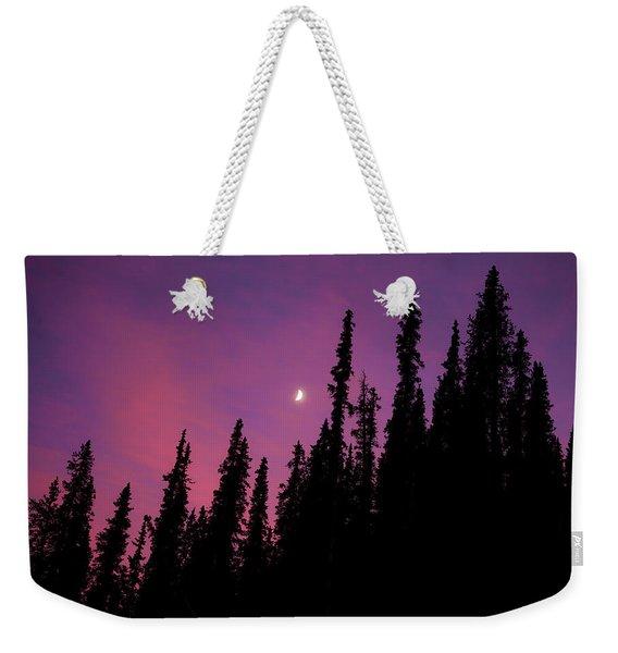 Sunset Moon Weekender Tote Bag