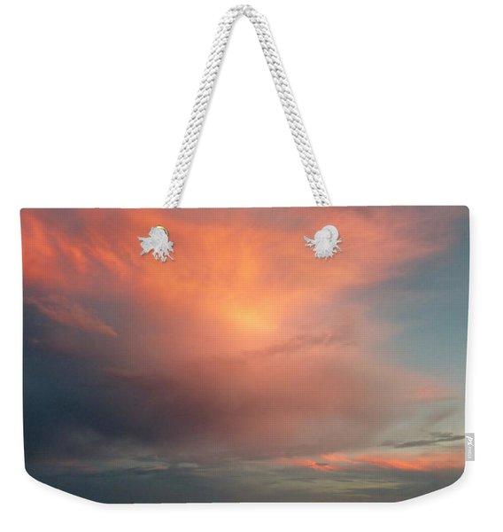 Sunset Moonrise Weekender Tote Bag