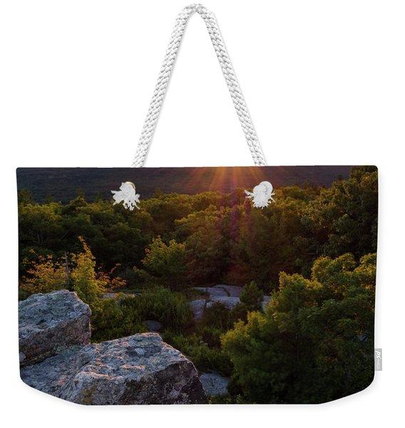 Sunset, Mt. Battie, Camden, Maine 33788-33791 Weekender Tote Bag