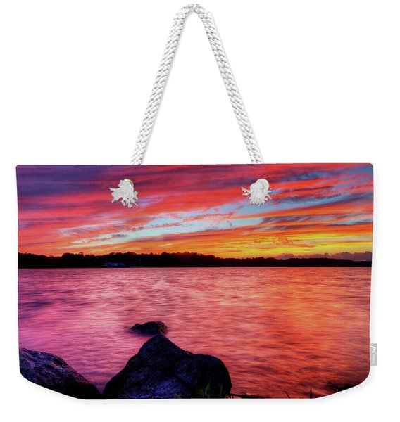 Sunset Of Fire Weekender Tote Bag