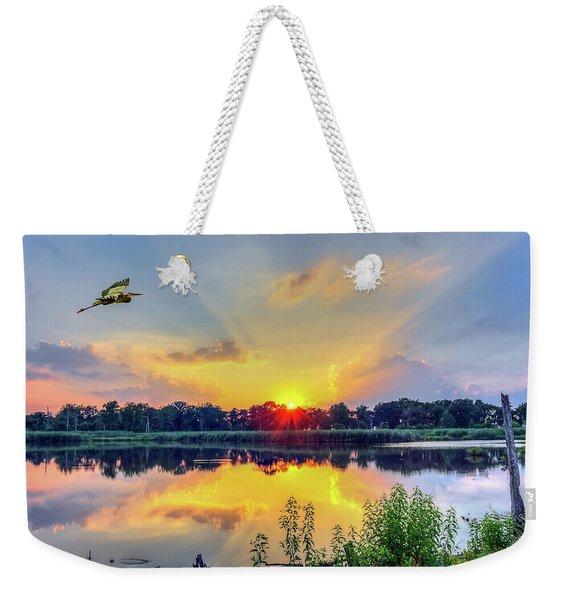 Sunset On A Chesapeake Bay Pond Weekender Tote Bag