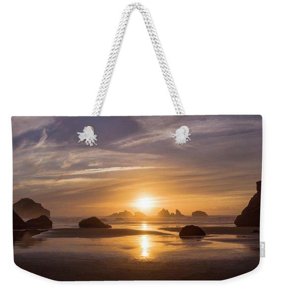 Sunset On Bandon Beach Weekender Tote Bag