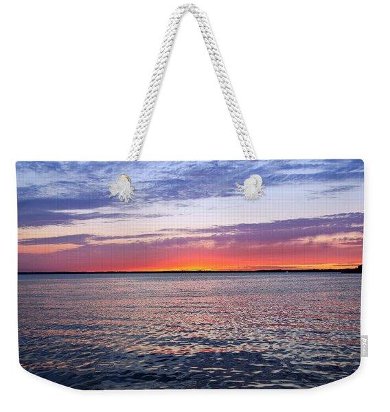 Sunset On Barnegat Bay I - Jersey Shore Weekender Tote Bag