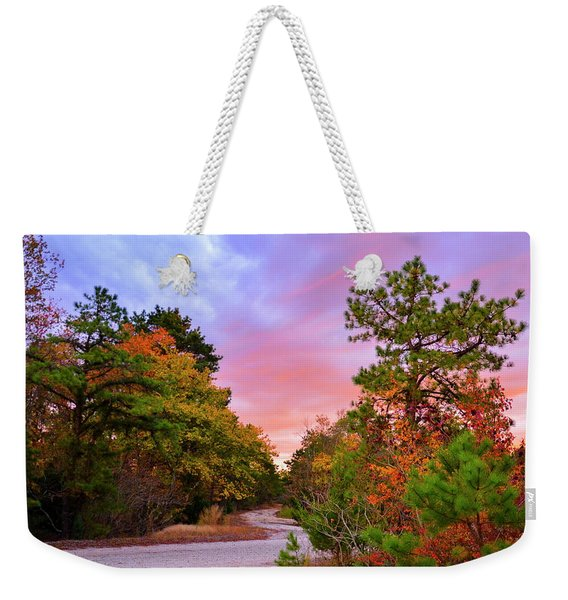Sunset On Bombing Run Road Weekender Tote Bag