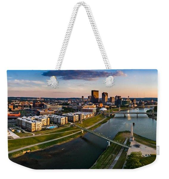 Sunset On Dayton Weekender Tote Bag