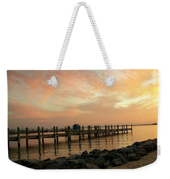 Sunset On Dewey Bay Weekender Tote Bag