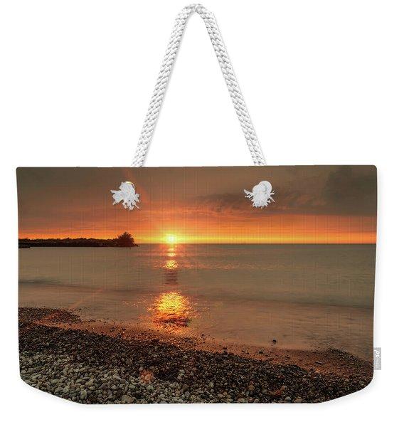 Sunset On Huron Lake Weekender Tote Bag