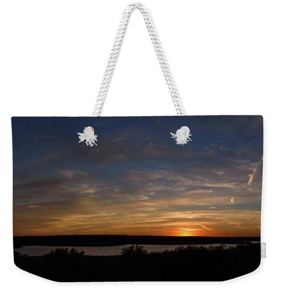 Sunset On Lake Georgetown Weekender Tote Bag
