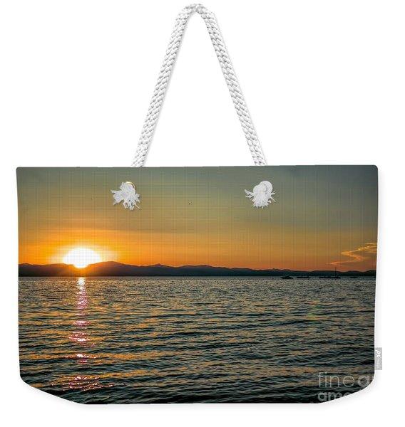 Sunset On Left Weekender Tote Bag