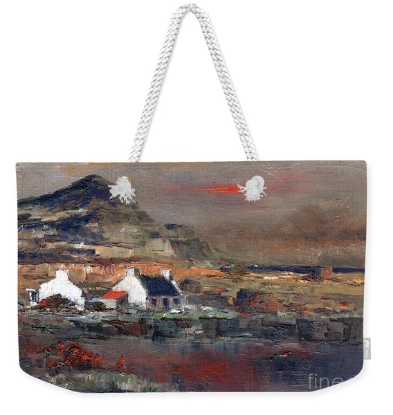 Sunset On Mount Errigal, Dunegal Weekender Tote Bag