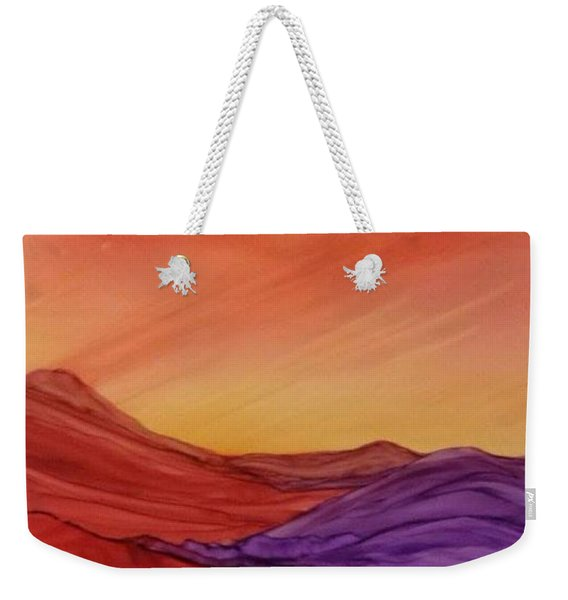 Sunset On Red And Purple Hills Weekender Tote Bag