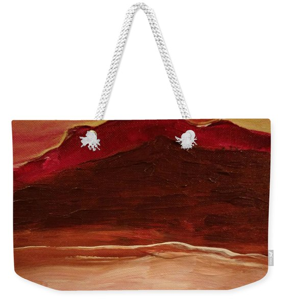 Sunset On Red Mountain Weekender Tote Bag