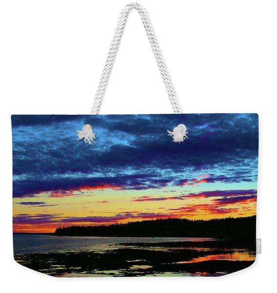 Sunset On Seal Cove Weekender Tote Bag
