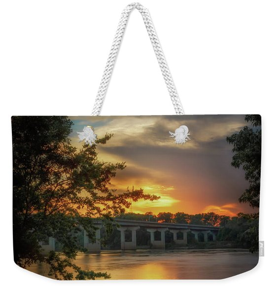 Sunset On The Arkansas Weekender Tote Bag
