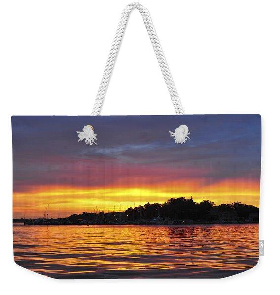 Sunset On The Bay Island Heights Nj Weekender Tote Bag
