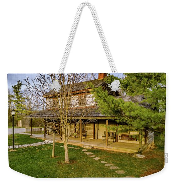 Sunset On The Cabin Weekender Tote Bag