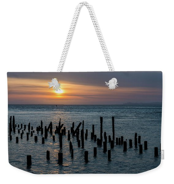 Sunset On The Empire Weekender Tote Bag