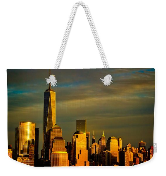 Sunset On The Financial District Weekender Tote Bag