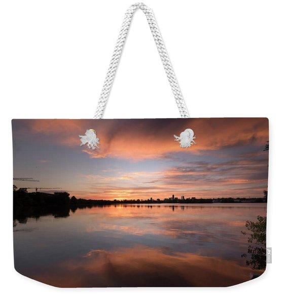 Sunset On The Lake Weekender Tote Bag