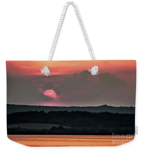 Sunset On The Lake Velence Paint Weekender Tote Bag