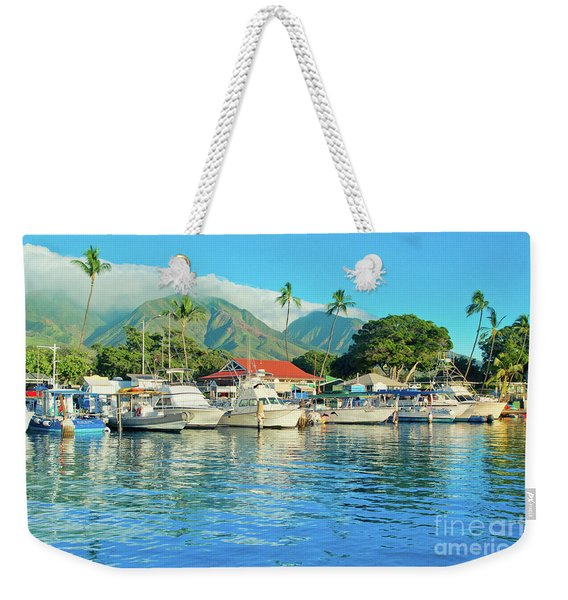 Sunset On The Marina Lahaina Harbour Maui Hawaii Weekender Tote Bag