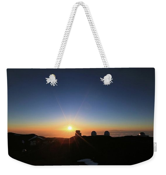 Sunset On The Mauna Kea Observatories Weekender Tote Bag