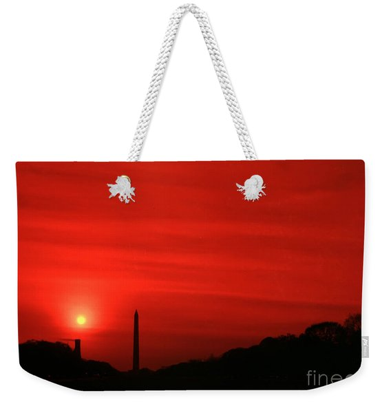 Sunset On The National Mall Washington Dc Weekender Tote Bag