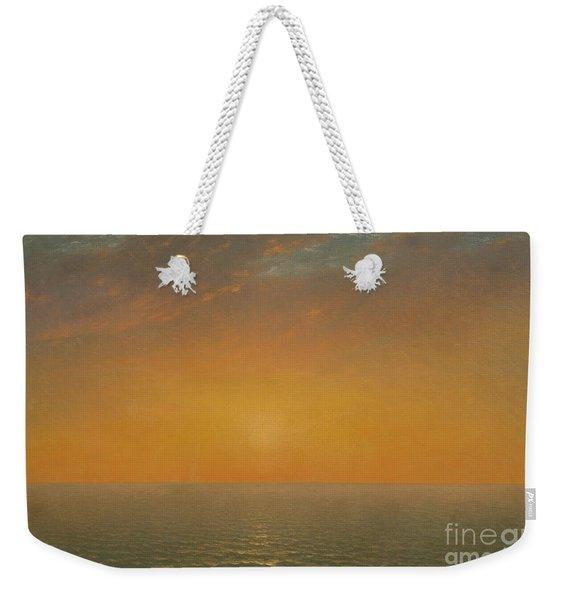 Sunset On The Sea, 1872 Weekender Tote Bag