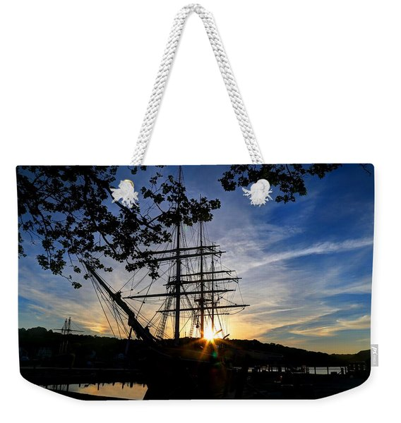 Sunset On The Whalers Weekender Tote Bag