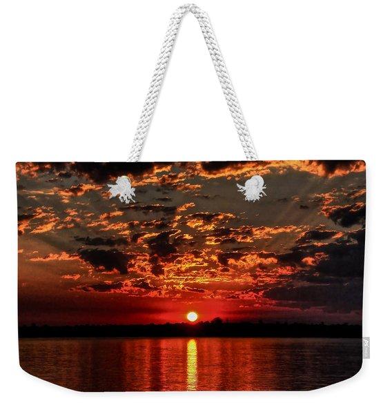 Sunset On The Zambezi Weekender Tote Bag