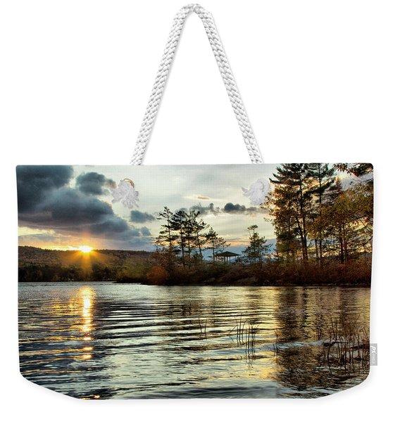 Sunset On Webster Lake  Weekender Tote Bag