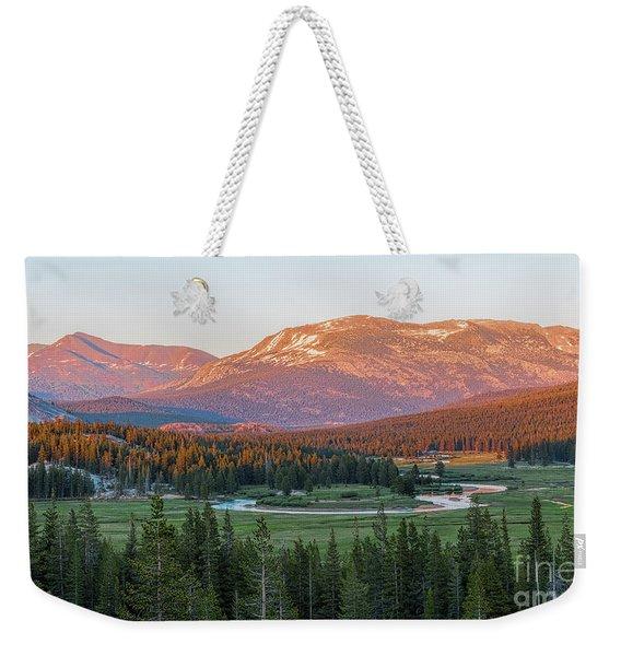 Sunset On Yosemite's Meadows Weekender Tote Bag