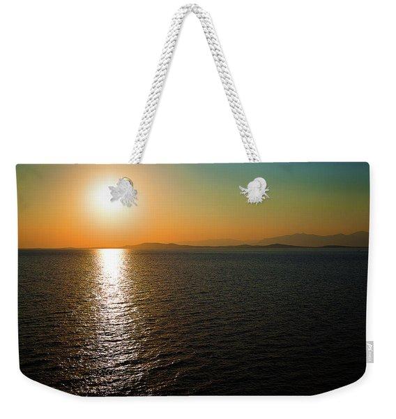 Sunset Over Aegean Sea Weekender Tote Bag