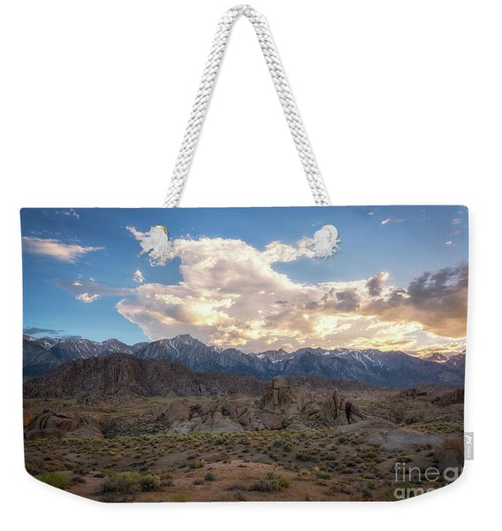 Sunset Over Alabama Hills  Weekender Tote Bag