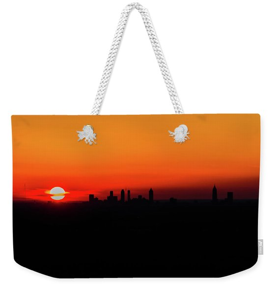 Sunset Over Atlanta Weekender Tote Bag