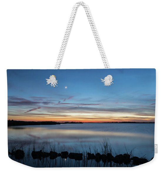 Sunset Over Back Bay Weekender Tote Bag