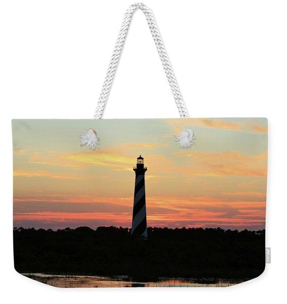 Sunset Over Cape Hatteras Light Weekender Tote Bag