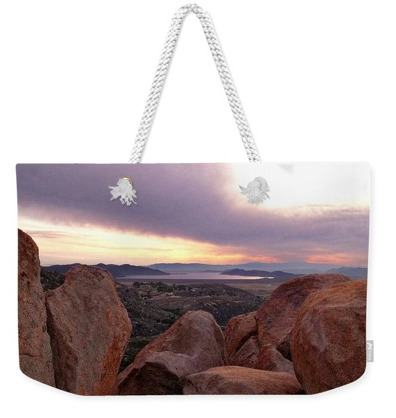 Sunset Over Diamond Valley Lake Weekender Tote Bag