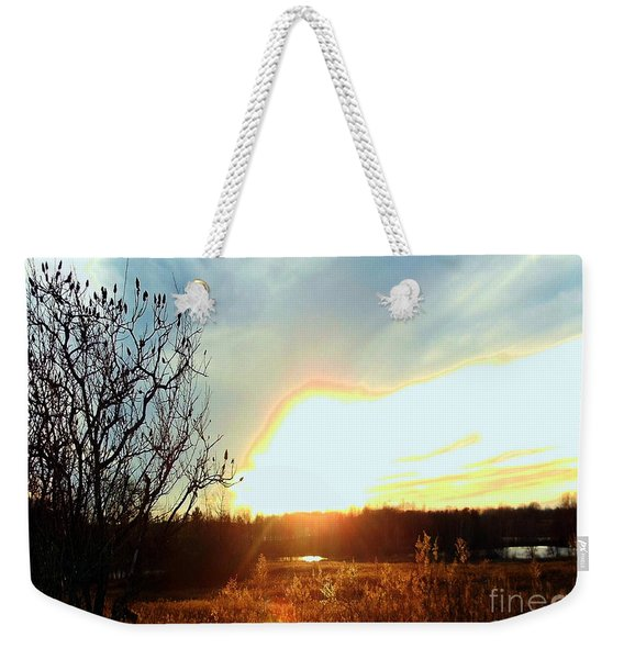 Sunset Over Fields Weekender Tote Bag