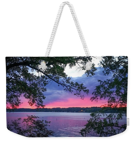 Sunset Over Lake Cherokee Weekender Tote Bag