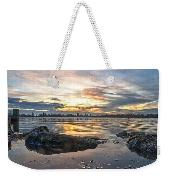 Sunset Over Lake Kralingen  Weekender Tote Bag